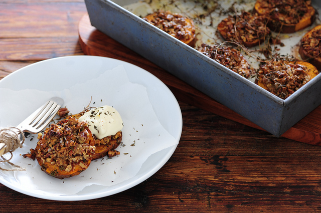 pecan crusted sweet potato