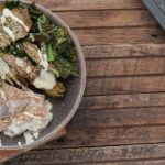 Baked Fish + Kale Chips
