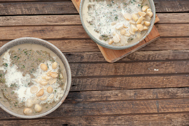 Creamy Mushroom, Leek & Spinach Soup