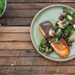 Fish with Olive Lemon Salsa