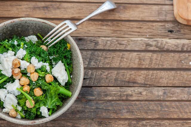 Kale & Goats Cheese Bowls