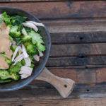 One Pot Chicken & Broccoli with Peanut & Lime Sauce