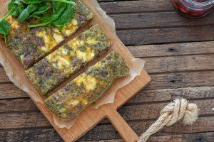 Pesto, Olive & Feta Frittata