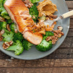 Salmon with Spiced Butter & Broccoli
