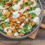 Spiced Roast Chicken & Cauliflower Salad with Tahini Maple Dressing
