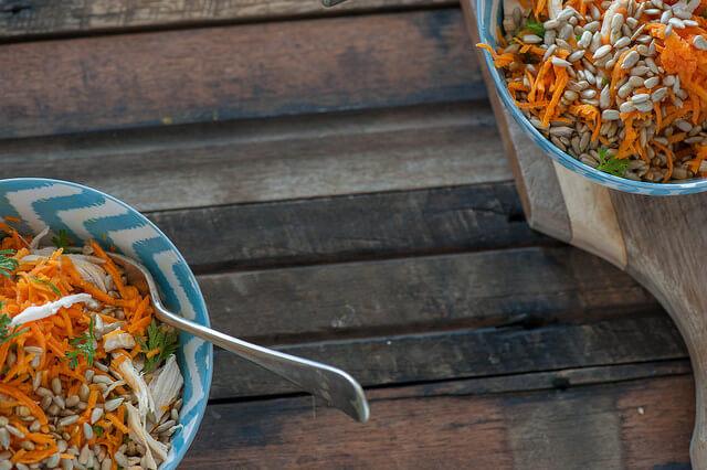 Sunny Parisian Carrot Bowls